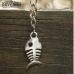 Рибена кост - метален сувенир, под формата на ключодържател