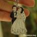 Сватбен ключодържател - младоженци