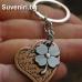 Любовен сувенир, състоящ се от две части - детелинка и сърчице