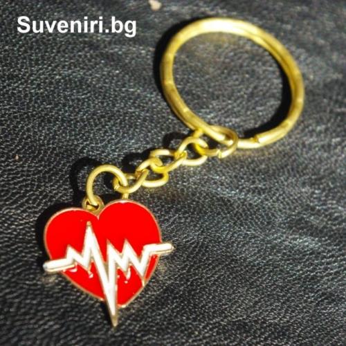 Пулс - сърчице - тонус - метален ключодържател