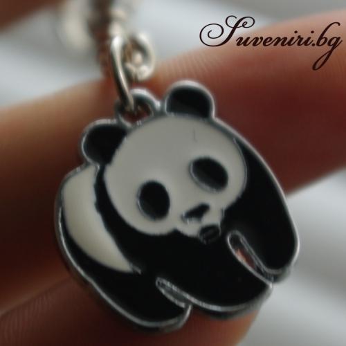 Бебе Панда - метален ключодържател с едно лице