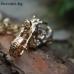 Чопър - златист с кристали