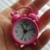 Розов будилник - сувенир - ключодържател