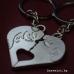 Сувенир за влюбени - ключодържател от две части