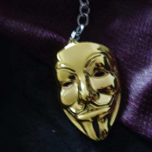 Анонимните - сувенир в златист цвят